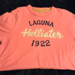 Men's pink hollister T-shirt